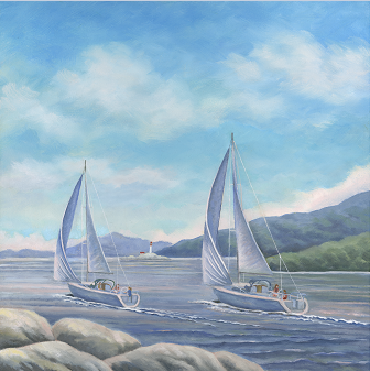 """Point Atkinson Light House"" Oil on Canvas 24"" x 24"""